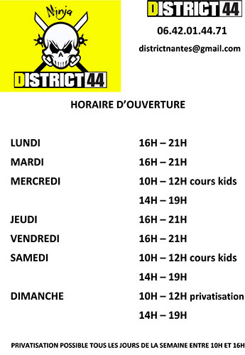 Horaires District44